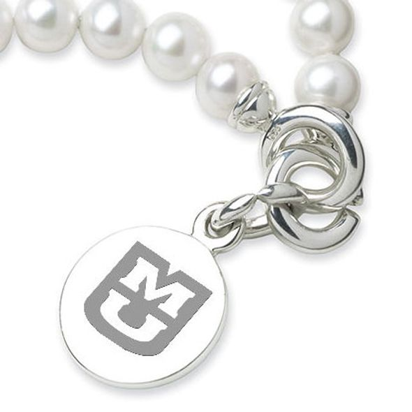 University of Missouri Pearl Bracelet with Sterling Silver Charm - Image 2