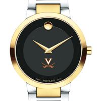 University of Virginia Men's Movado Two-Tone Modern Classic Museum with Bracelet