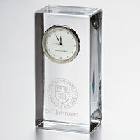 SC Johnson College Tall Glass Desk Clock by Simon Pearce