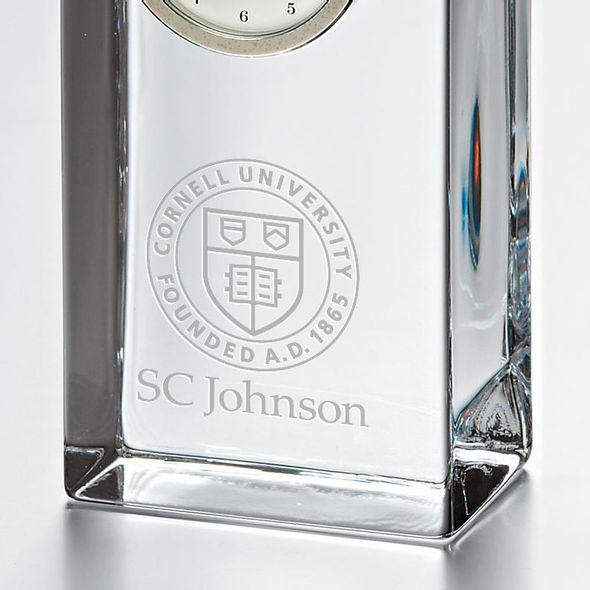 SC Johnson College Tall Glass Desk Clock by Simon Pearce - Image 2