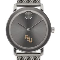 Florida State University Men's Movado BOLD Gunmetal Grey with Mesh Bracelet