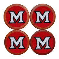 Miami University Needlepoint Coasters