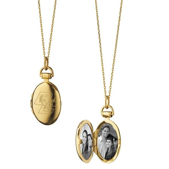 Boston College Monica Rich Kosann Petite Locket in Gold
