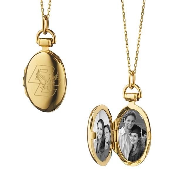 Boston College Monica Rich Kosann Petite Locket in Gold - Image 2