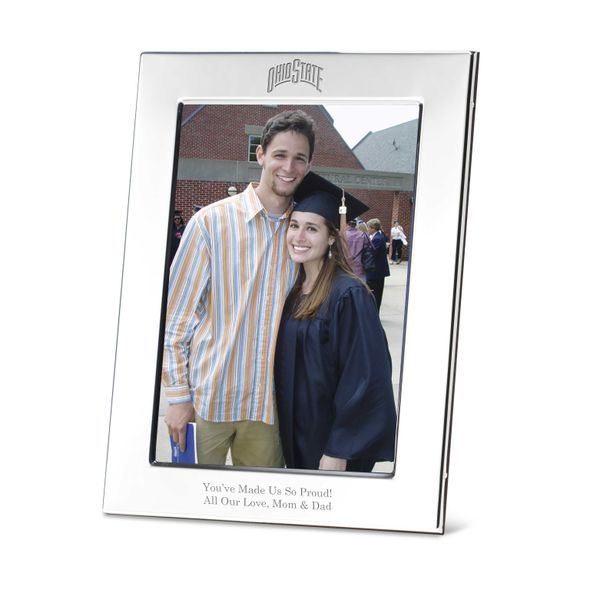 Ohio State Polished Pewter 5x7 Picture Frame - Image 1