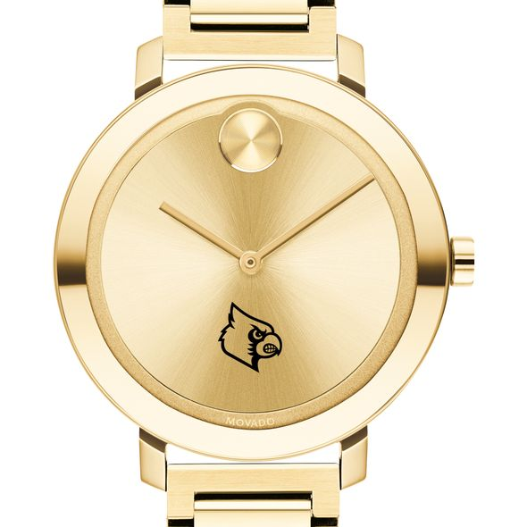 University of Louisville Women's Movado Gold Bold 34