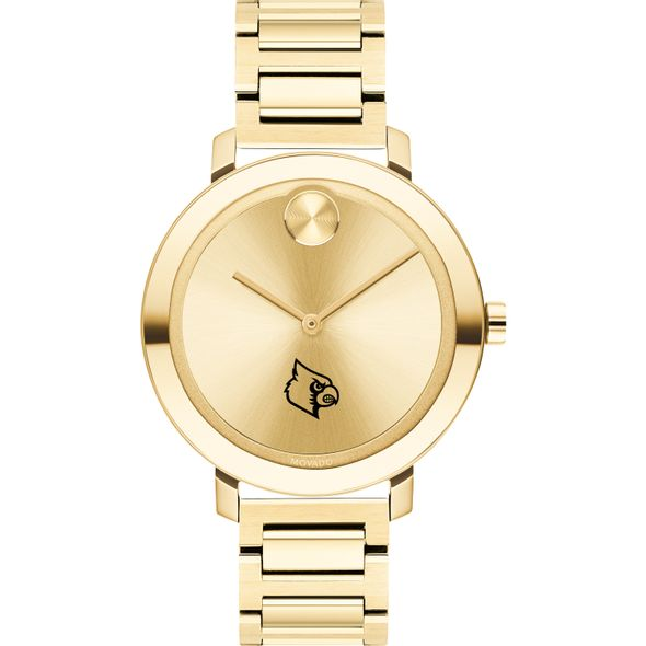 University of Louisville Women's Movado Gold Bold 34 - Image 2