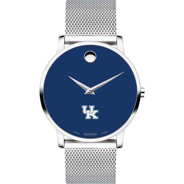 University of Kentucky Men's Movado Museum with Blue Dial & Mesh Bracelet - Image 2