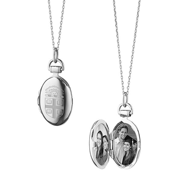 Brown University Monica Rich Kosann Petite Locket in Silver