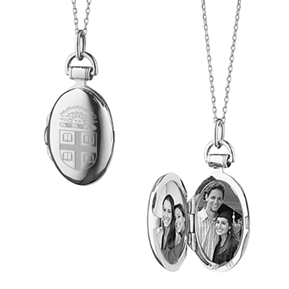 Brown University Monica Rich Kosann Petite Locket in Silver - Image 2