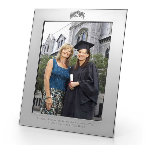 Ohio State Polished Pewter 8x10 Picture Frame - Image 1