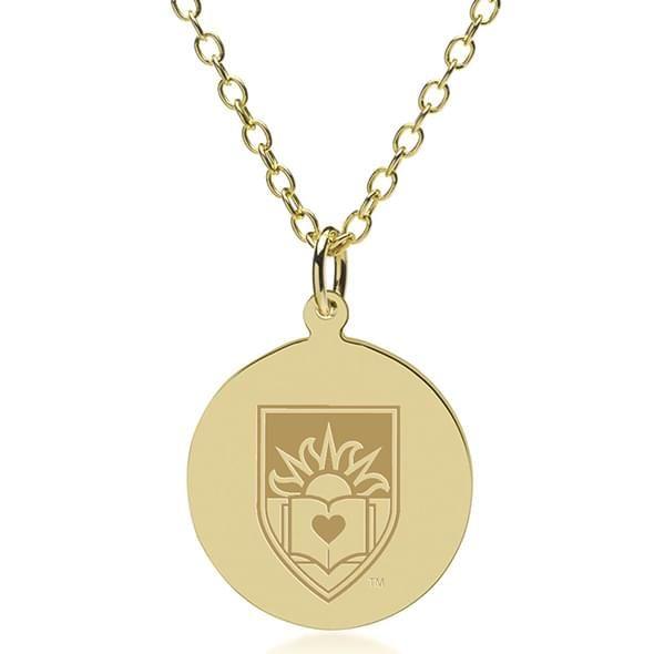 Lehigh 14K Gold Pendant & Chain
