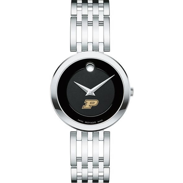 Purdue University Women's Movado Esparanza Stainless Steel Museum with Bracelet - Image 2