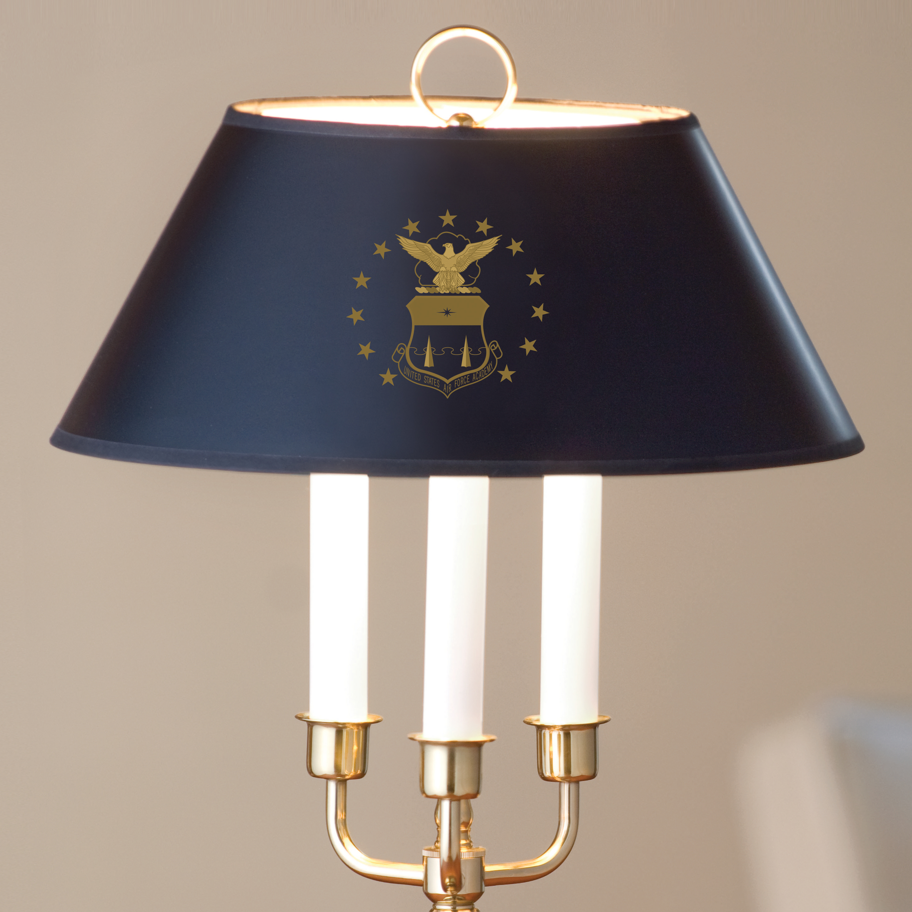 US Air Force Academy Lamp in Brass & Marble - Image 2
