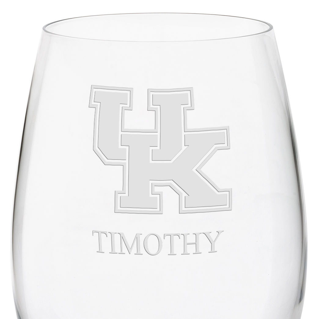 University of Kentucky Red Wine Glasses - Set of 4 - Image 3