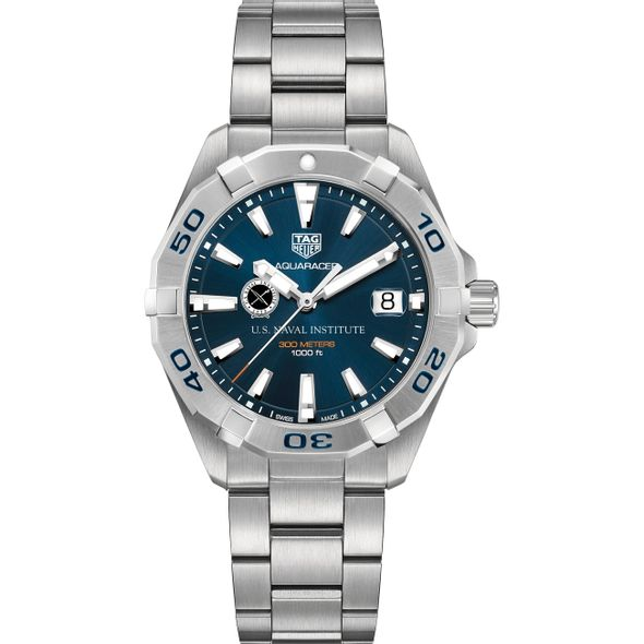 U.S. Naval Institute Men's TAG Heuer Steel Aquaracer with Blue Dial - Image 2