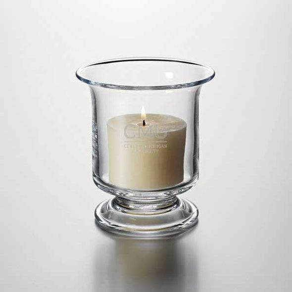 Central Michigan Hurricane Candleholder by Simon Pearce