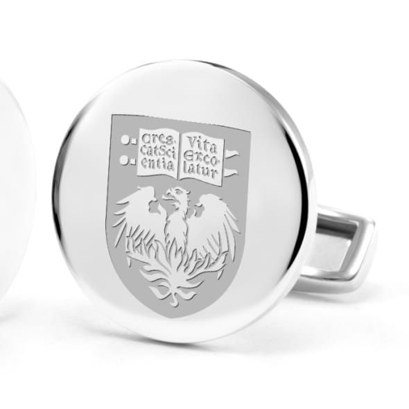 University of Chicago Cufflinks in Sterling Silver - Image 2