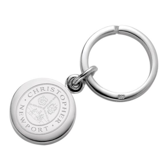 Christopher Newport University Sterling Silver Insignia Key Ring