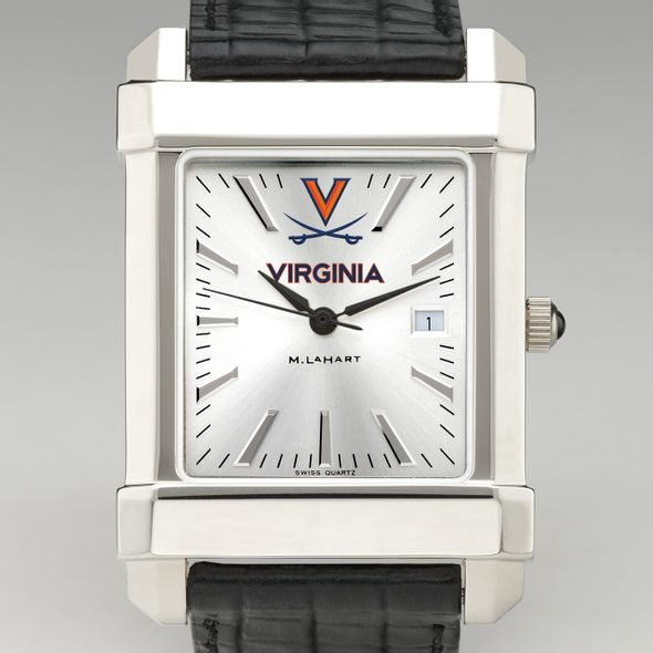 Virginia Men's Collegiate Watch with Leather Strap