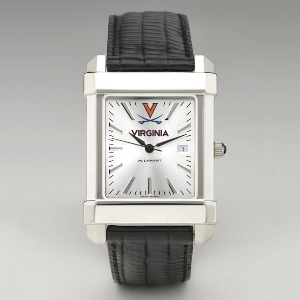 Virginia Men's Collegiate Watch with Leather Strap - Image 2