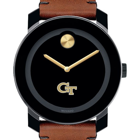 Georgia Tech Men's Movado BOLD with Brown Leather Strap