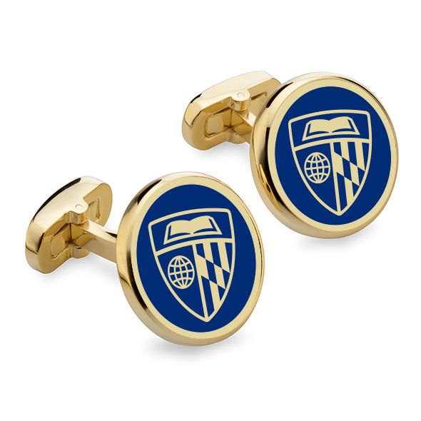 Johns Hopkins Enamel Cufflinks - Image 1
