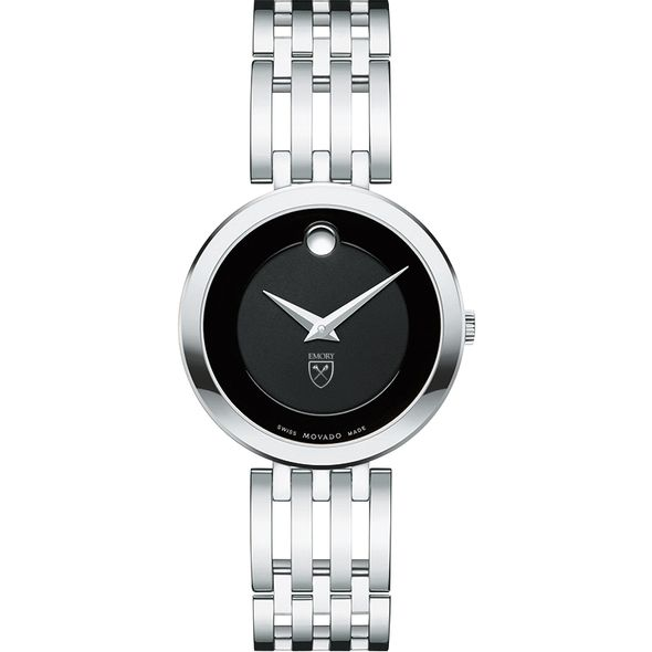 Emory University Women's Movado Esparanza Stainless Steel Museum with Bracelet - Image 2