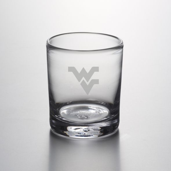 West Virginia University Double Old Fashioned Glass by Simon Pearce