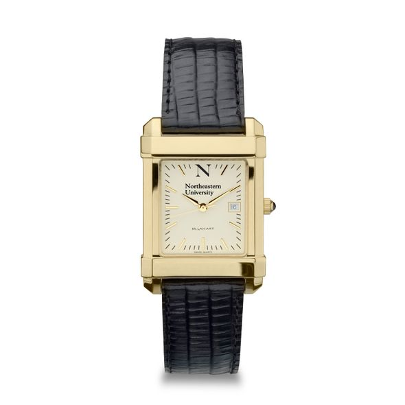 Northeastern Men's Gold Quad with Leather Strap - Image 2