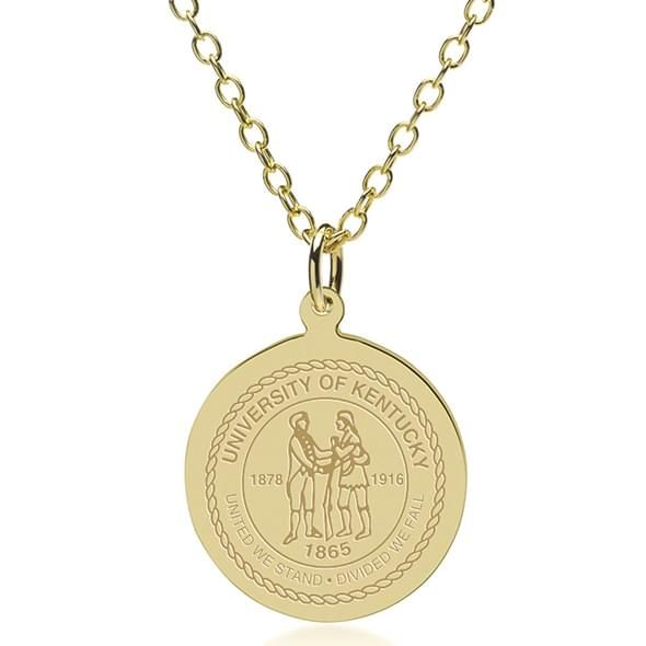 Kentucky 18K Gold Pendant & Chain