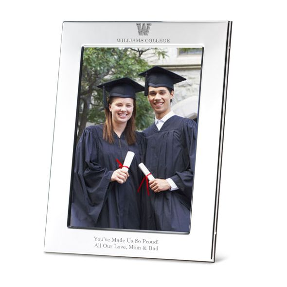 Williams College Polished Pewter 5x7 Picture Frame