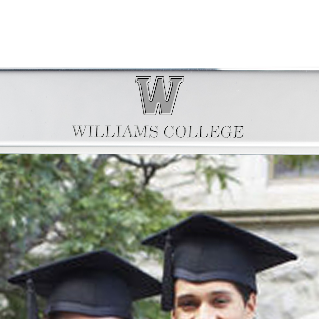 Williams College Polished Pewter 5x7 Picture Frame - Image 2