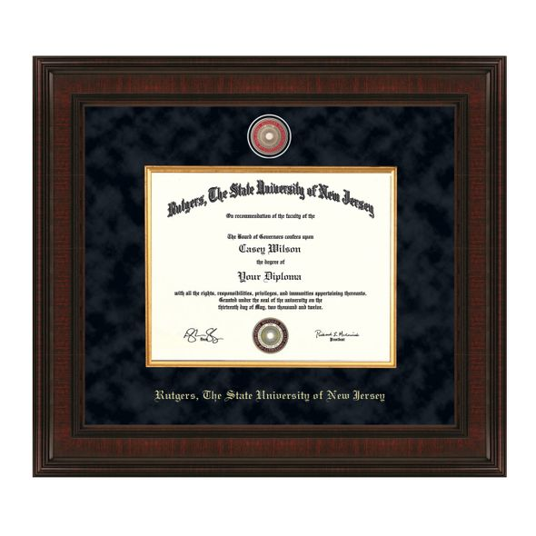 Rutgers University Masters/PhD Diploma Frame - Excelsior