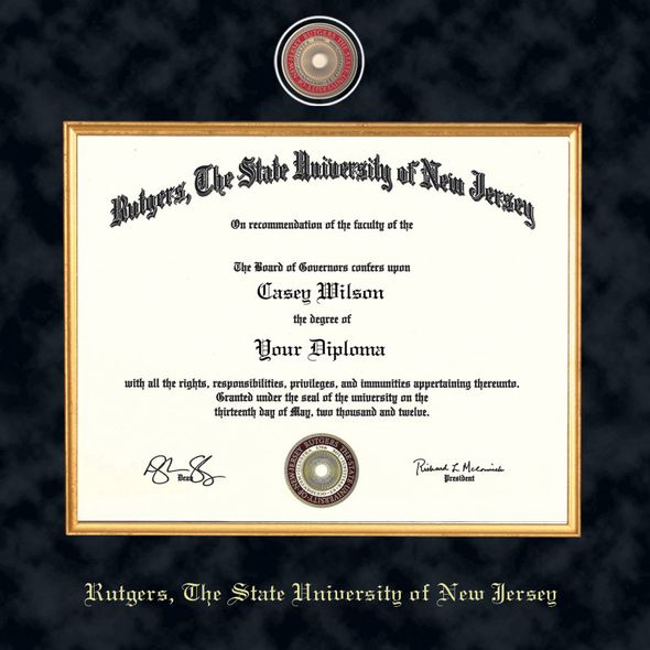 Rutgers University Masters/PhD Diploma Frame - Excelsior - Image 2
