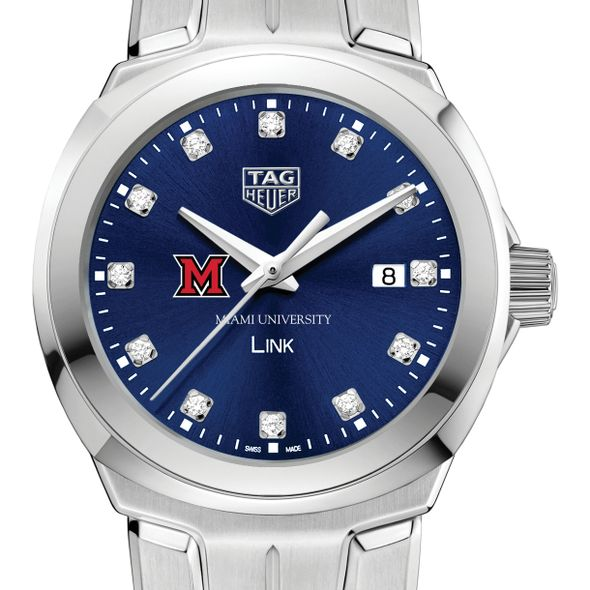 Miami University Women's TAG Heuer Link with Blue Diamond Dial