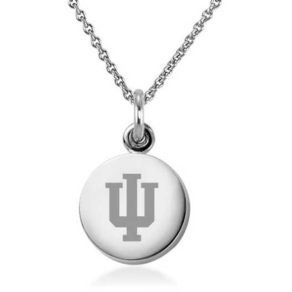 Indiana University Necklace with Charm in Sterling Silver