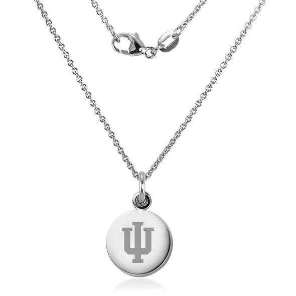 Indiana University Necklace with Charm in Sterling Silver - Image 2