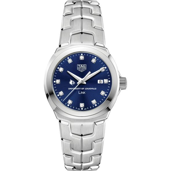 University of Louisville Women's TAG Heuer Link with Blue Diamond Dial - Image 2
