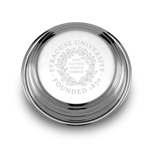 Syracuse University Pewter Paperweight - Image 1