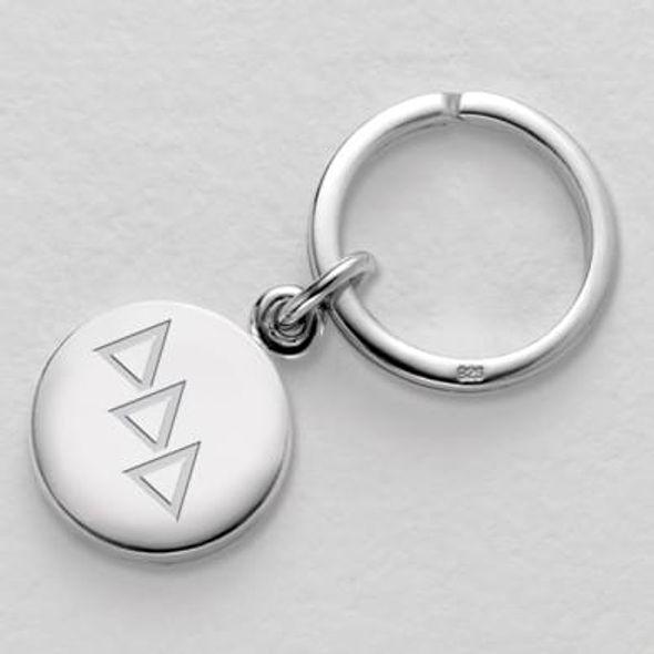 Delta Delta Delta Sterling Silver Insignia Key Ring