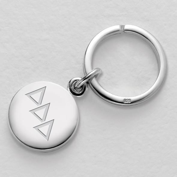 Delta Delta Delta Sterling Silver Insignia Key Ring - Image 2