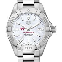Virginia Tech Women's TAG Heuer Steel Aquaracer with MOP Dial