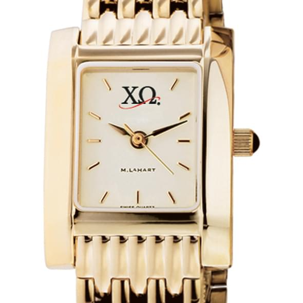 Chi Omega Women's Gold Quad Watch with Bracelet - Image 2