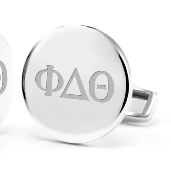 Phi Delta Theta Sterling Silver Cufflinks - Image 2
