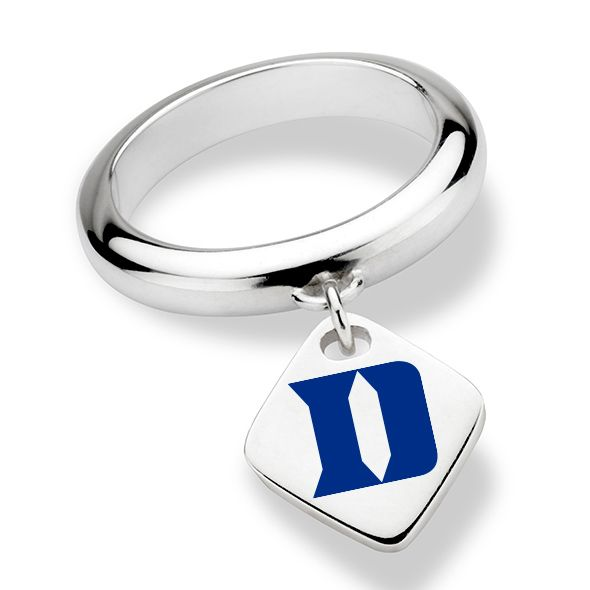Duke University Sterling Silver Ring with Sterling Tag