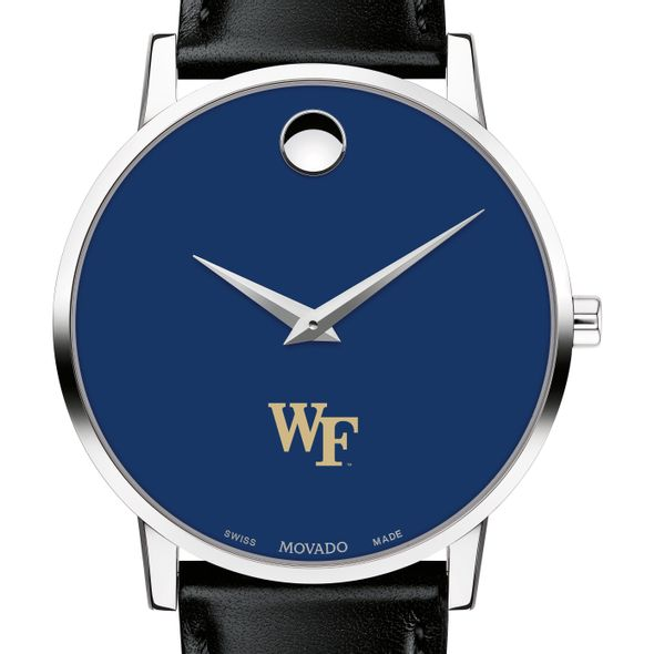 Wake Forest University Men's Movado Museum with Blue Dial & Leather Strap - Image 1