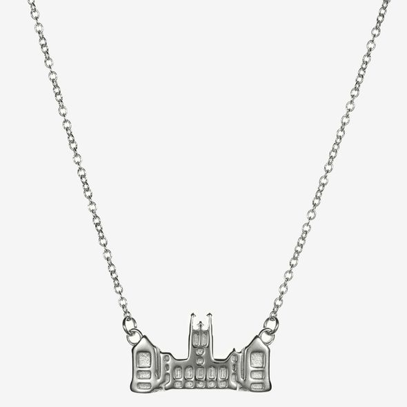 Boston College Sterling Silver Campus Architecture Necklace by Kyle Cavan - Image 2
