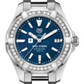 NYU Stern Women's TAG Heuer 35mm Steel Aquaracer with Blue Dial - Image 1