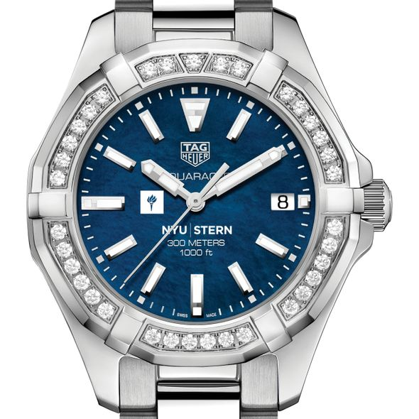 NYU Stern Women's TAG Heuer 35mm Steel Aquaracer with Blue Dial
